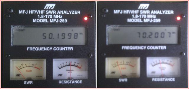 4m & 6m dualband yagi SWR