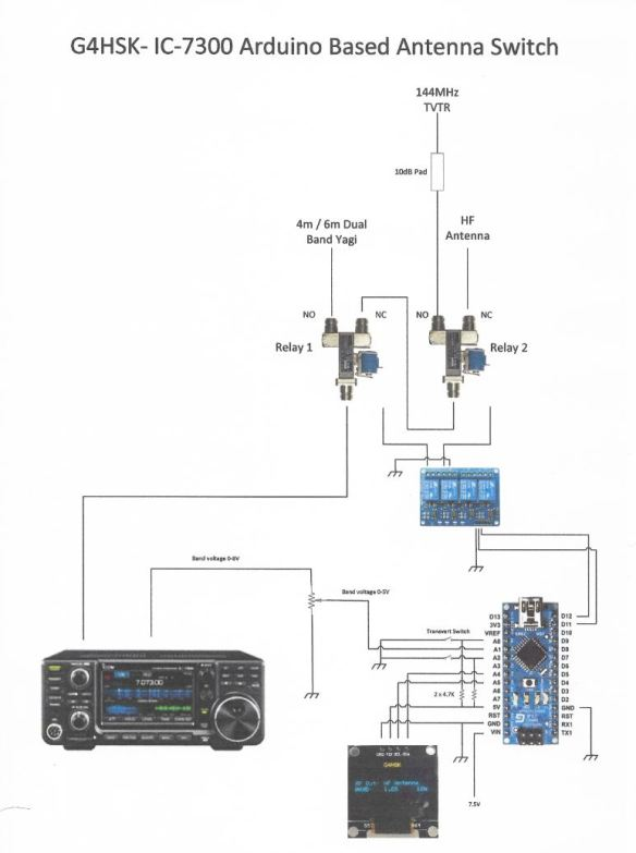 An Arduino Based Antenna Switch For The IC-7300   G4HSK